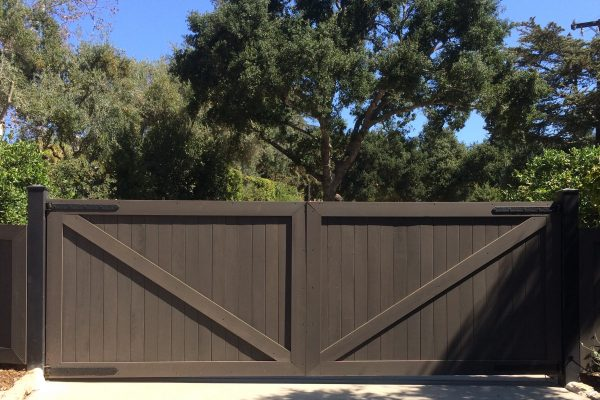 Double Ranch Style Swing Gates, Santa Barbara